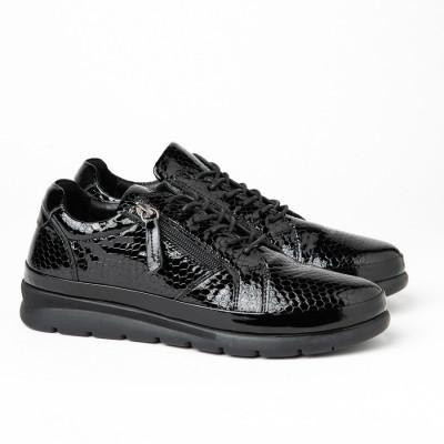 Kožne ženske patike/cipele H4295 crne