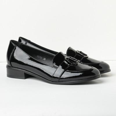 Lakovane cipele na malu petu C2124 crne