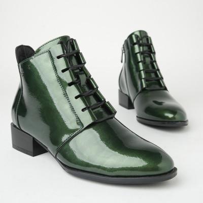 Lakovane poluduboke cipele C2275 zelene