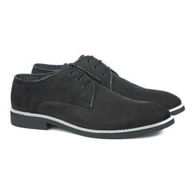 Muške kožne cipele Gazela 3164 crne
