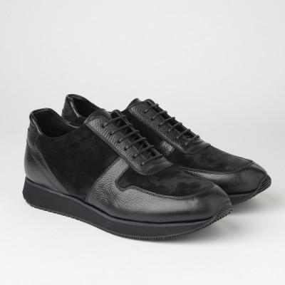Muške kožne patike/cipele B800/1306 crne