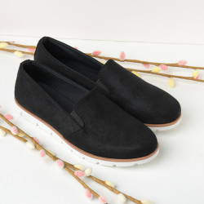 Ravne cipele/mokasine C335 crne