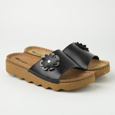Ravne papuče DK000004 crne
