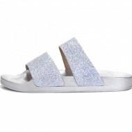 Ravne papuče LP021925 srebrne