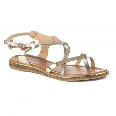 Ravne sandale 8001-8 kaki