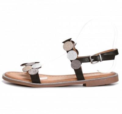 Ravne sandale LS211901 crne