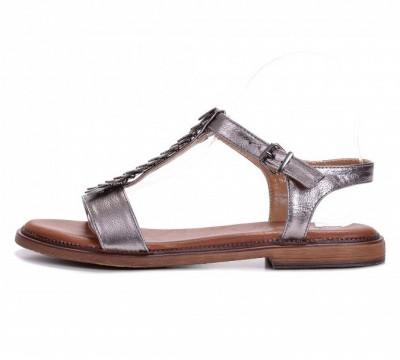 Ravne sandale LS211906 tamno srebrne