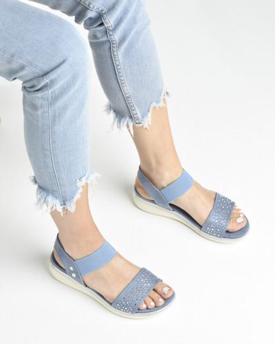 Ravne sandale S481 plave