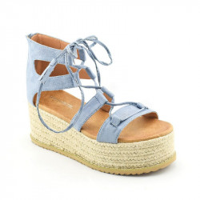 Sandale na debelom djonu LS021701 plave