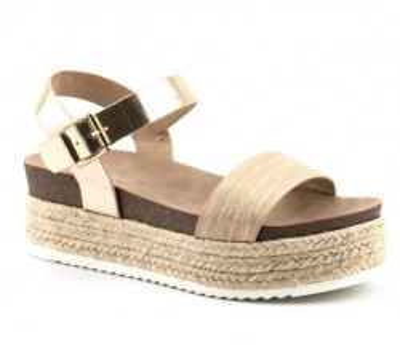 Sandale na debelom djonu LS81510-1 bež