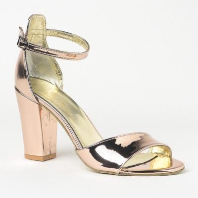 Sandale na deblju petu 27 roze zlato