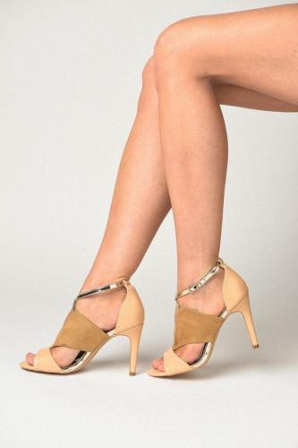 Sandale na štiklu 0149-A1 bež
