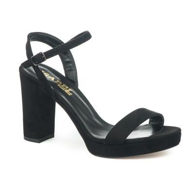Sandale na štiklu 4150 crne
