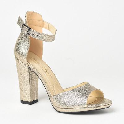 Sandale na štiklu 573 zlatne