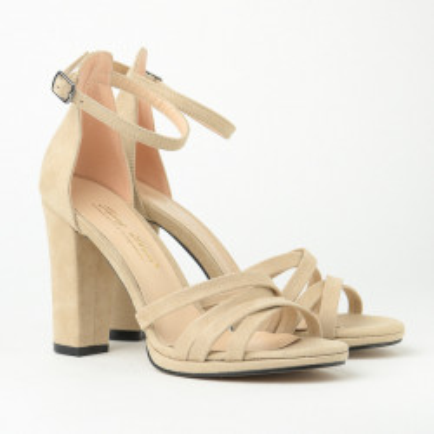 Sandale na štiklu 6300-2040 bež