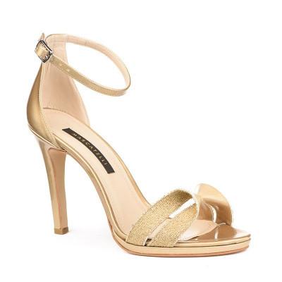 Sandale na štiklu 7469 zlatne