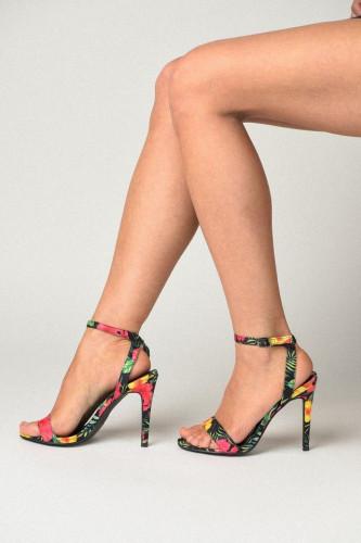 Sandale na štiklu S7505 crne