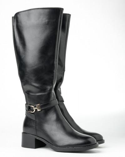Ženske čizme na malu štiklu A2070 crne