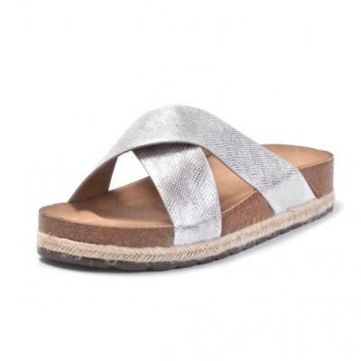 Ženske papuče LP021920 srebrne