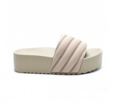 Ženske papuče na debelom đonu LP055472 bež