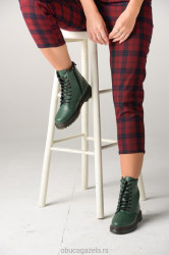 Ženske poluduboke čizme A430 zelene