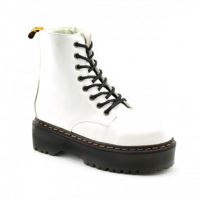 Ženske poluduboke čizme LH095751 bela