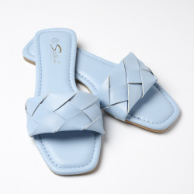 Ženske ravne papuče LP022115 plave