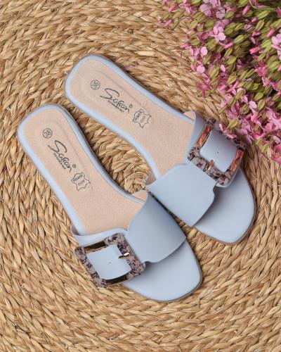 Ženske ravne papuče LP042105 plave
