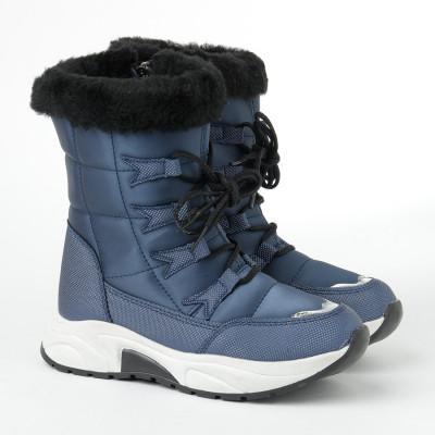 Zimske poluduboke čizme 7455 plave (36-41)