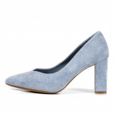 Cipele na štiklu L241929 svetlo plave