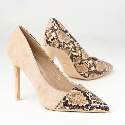 Cipele na štiklu L241942 bež