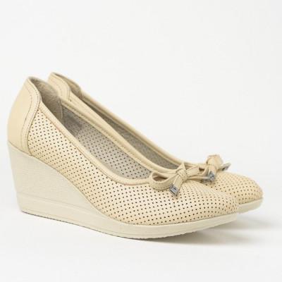 Cipele sa platformom 2843 bež