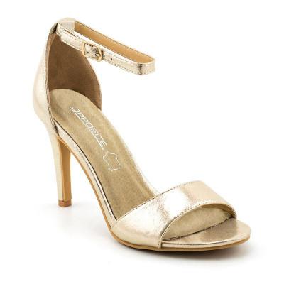 Elegantne sandale na štiklu LS021510 šampanj