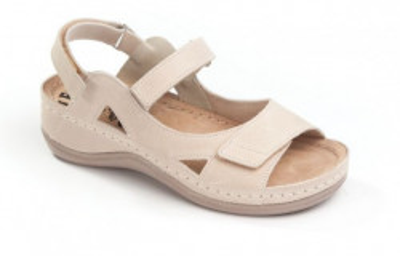 Kožne anatomske sandale 435 bež