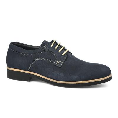 Kožne muške cipele 1216 teget