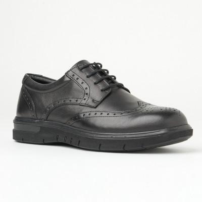 Kožne muške cipele na pertlanje 2800 crna