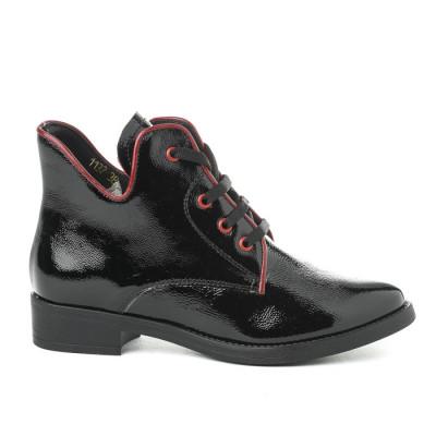 Kožne poluduboke kožne cipele A11-32 crne