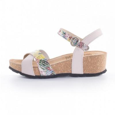 Kožne ženske sandale K1224 bež