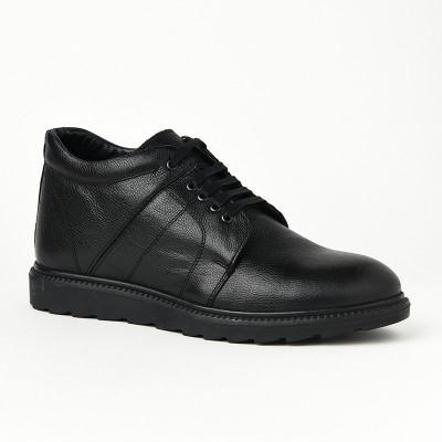 Muške kožne duboke cipele P30652 crne