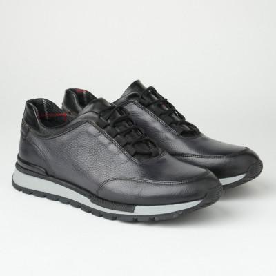 Muške kožne patike/cipele F6827/1355 crne
