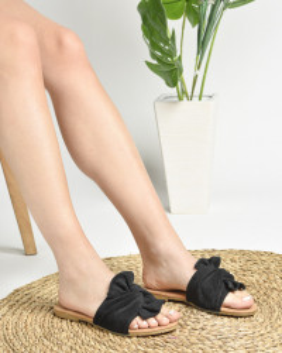 Ravne papuče LP020860 crne