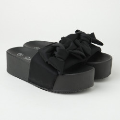 Ravne papuče na debelom đonu LP802104 crne