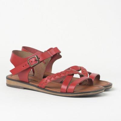 Ravne sandale 621 crvene
