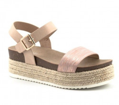 Sandale na debelom djonu LS81510-1 svetlo roze