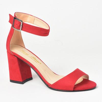 Sandale na štiklu 141 crvene