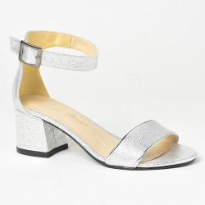 Sandale na štiklu 597 srebrne