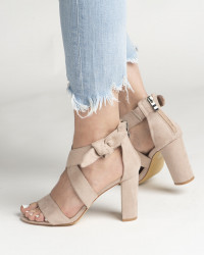 Sandale na štiklu LS021157 bež