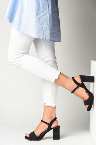 Sandale na štiklu LS771912 crne