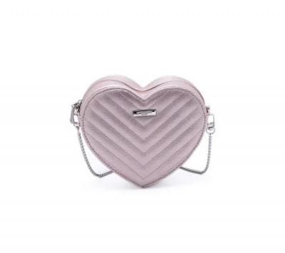Srce torbica T021300 sedefasto roze