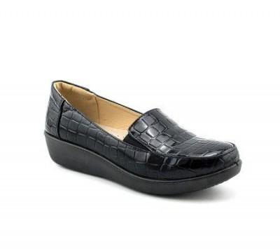 Ženske cipele / mokasine L90754 crne